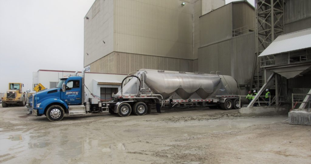 Unloading A Cement Tanker