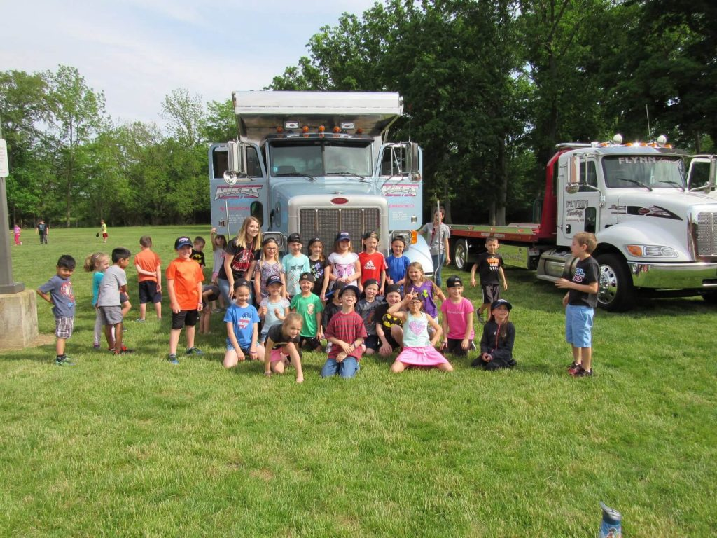 Touch a Truck event at JA Monroe Elementary School