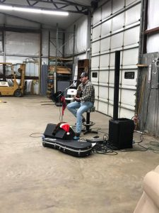 Entertainment at the 2019 Christmas Party for Employees at Mikes Trucking
