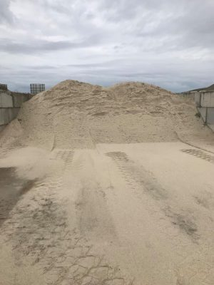 White beach sand at our stockyard